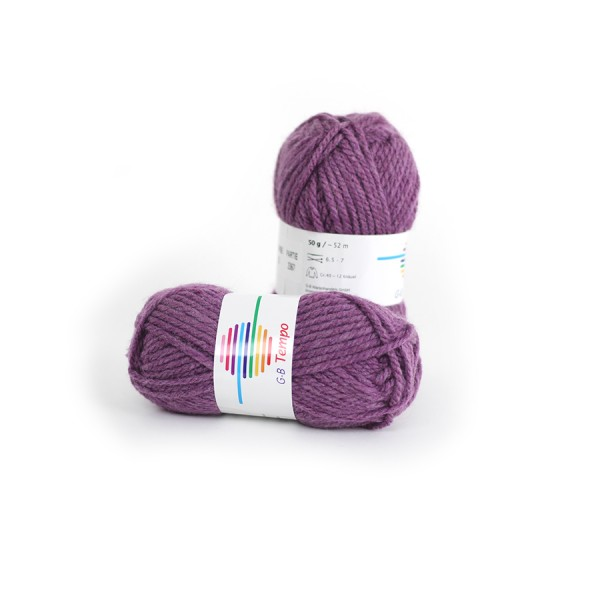 Strickwolle Tempo pflaume Nr.02 '50 g'