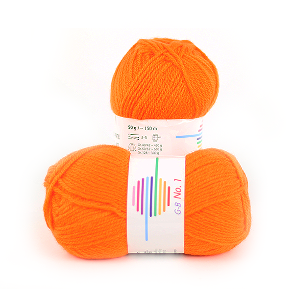 Strickwolle No.1 orange Nr.1520
