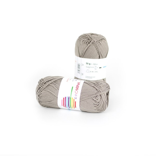 Strickwolle Carina taupe Nr.905 '50 g'