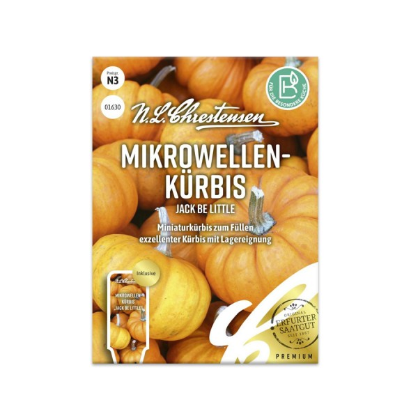Mikrowellen-Kürbis 'Jack Be Little' N.L.Chrestensen