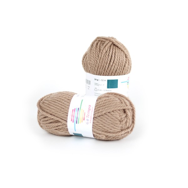 Strickwolle Tempo taupe Nr.22 '50 g'