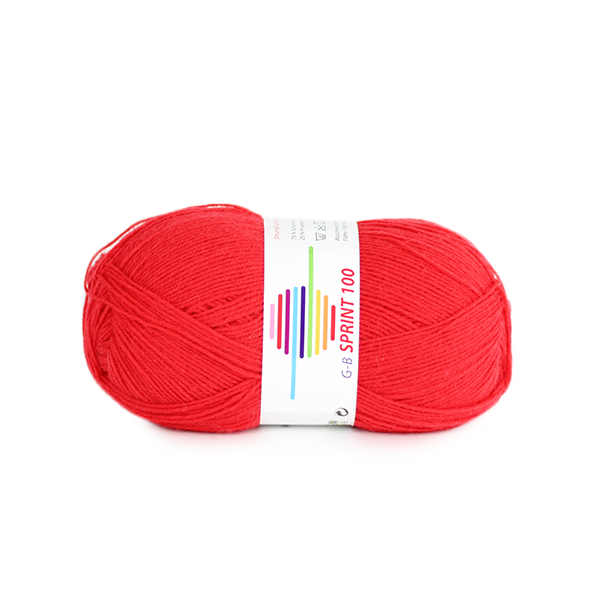 Strickwolle Sprint 100 rot Nr.278