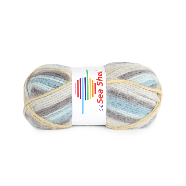 Strickwolle Sea Shell blau-beige-grau Nr.40