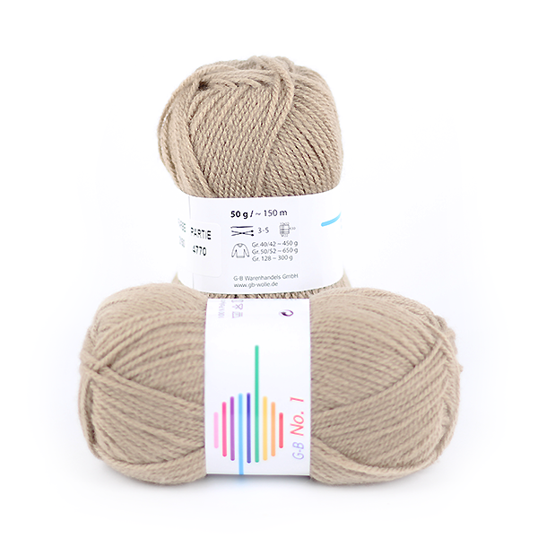 Strickwolle No.1 taupe Nr.2150 '50 g'