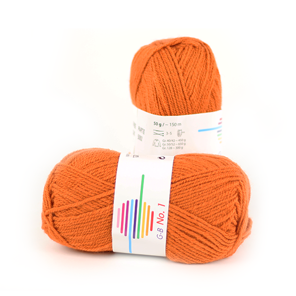 Strickwolle No.1 rost Nr.1540